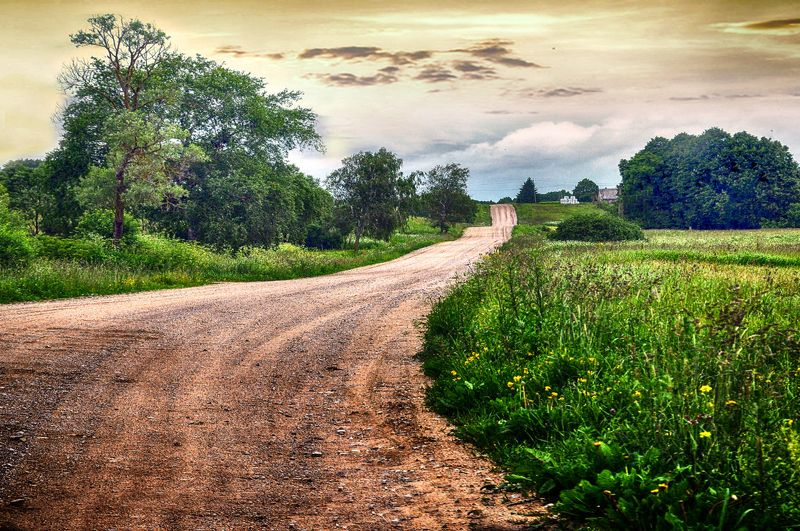 дорога Гравийная дорогаphoto preview