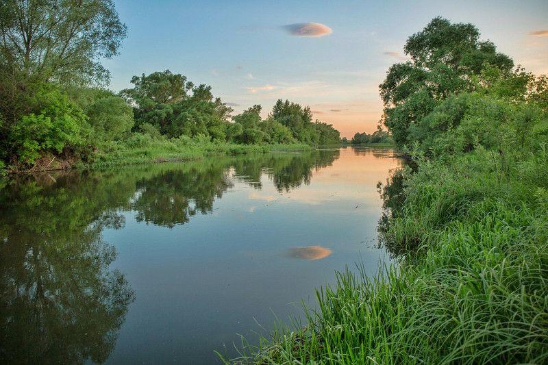 лето,пейзаж.закат,река,вечер Теплые,летние вечера....photo preview