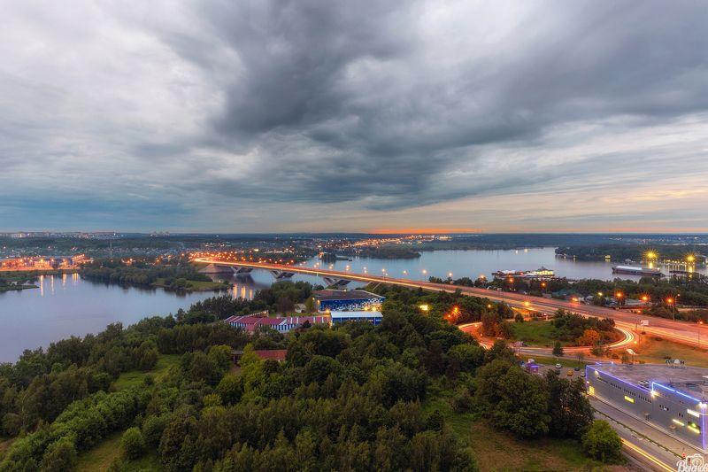 Вид на Клязьминское водохранилище и Хлебниковский мост Дмитровского шоссе.photo preview