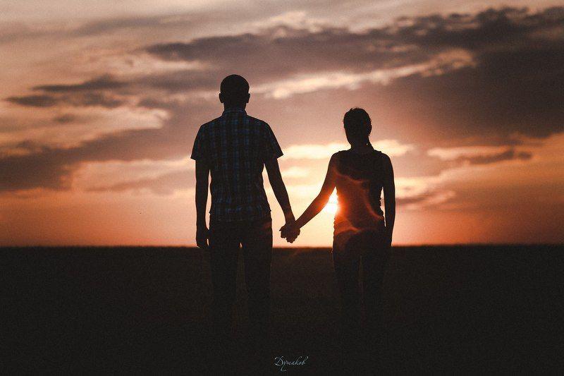 пара, фото, закат Вечностьphoto preview