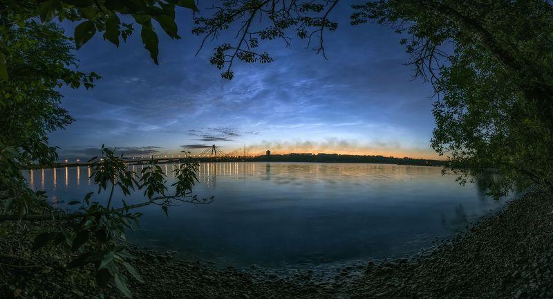 серебристые облака, череповец, ночь, река, город Серебристые облака г.Череповецphoto preview