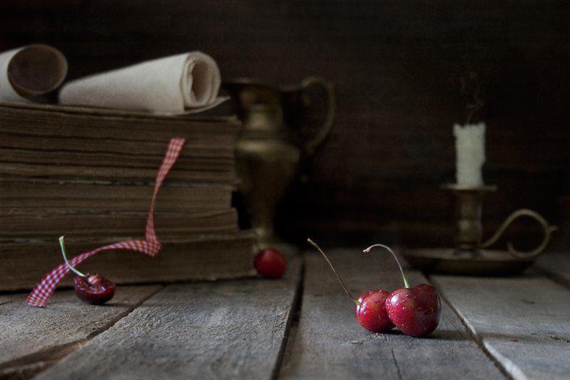 черешня, этюд, натюрморт Этюд с черешнейphoto preview