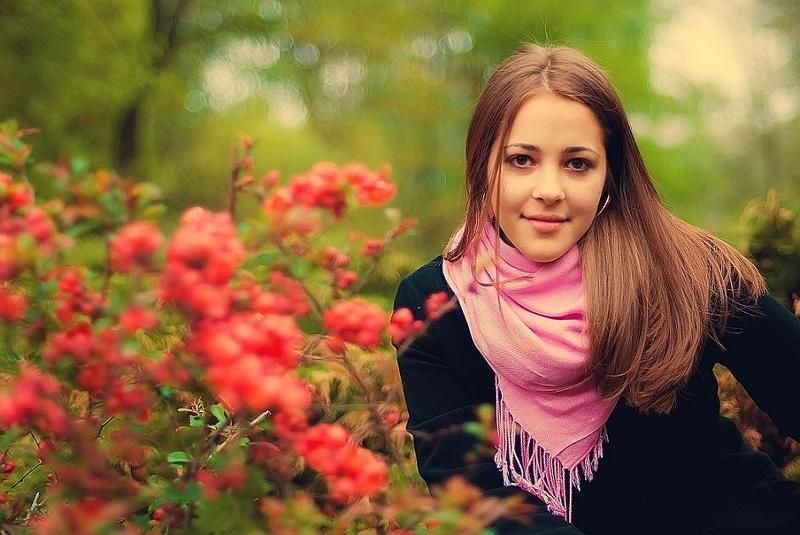 девушка, весна, сад, цветы ....photo preview