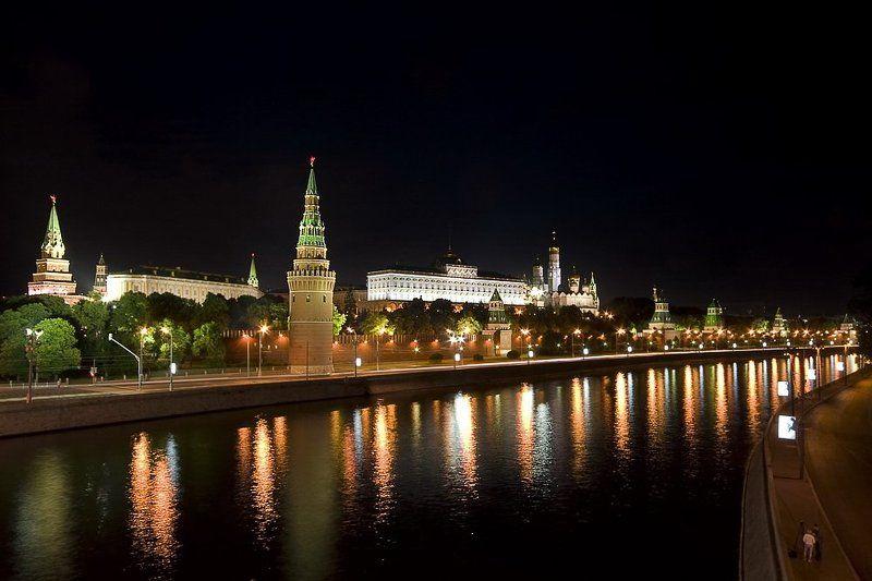 кремль, москва, ночь photo preview