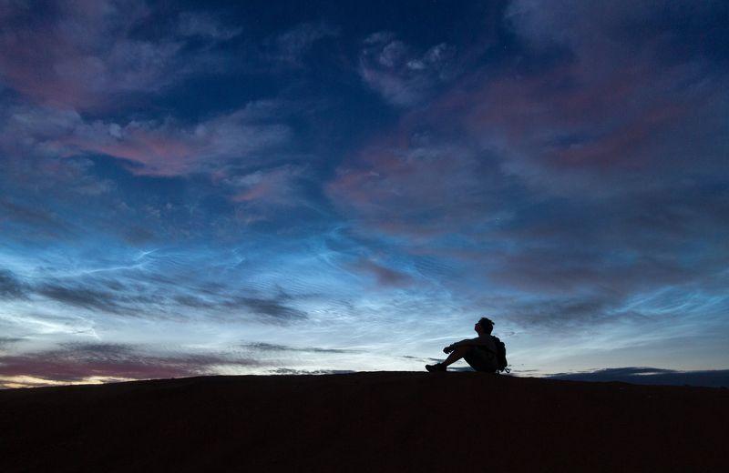 серебристые, облака, ночь, россия Мечтательphoto preview
