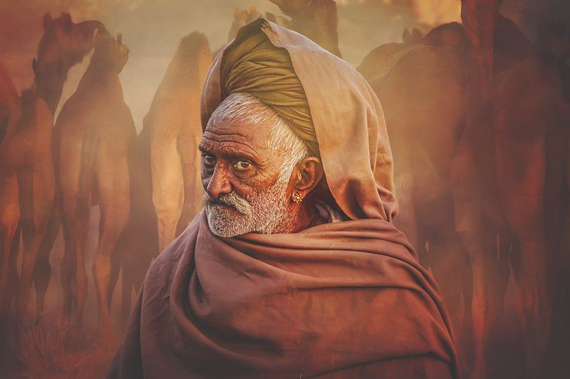 PUSHKAR, FESTIVAL, 2017, INDIA, TRAVEL, VARANASI Old Rajasthani manphoto preview