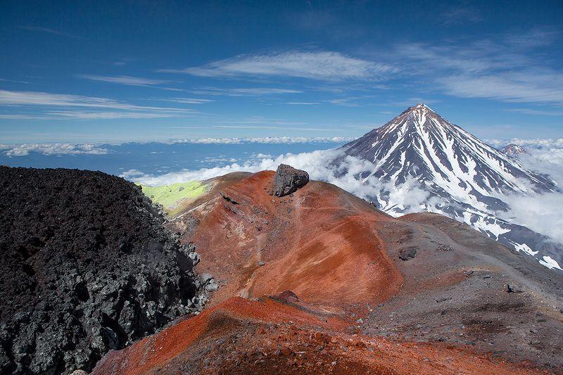 авачинский, вулкан, кратер на кратере Авачиphoto preview