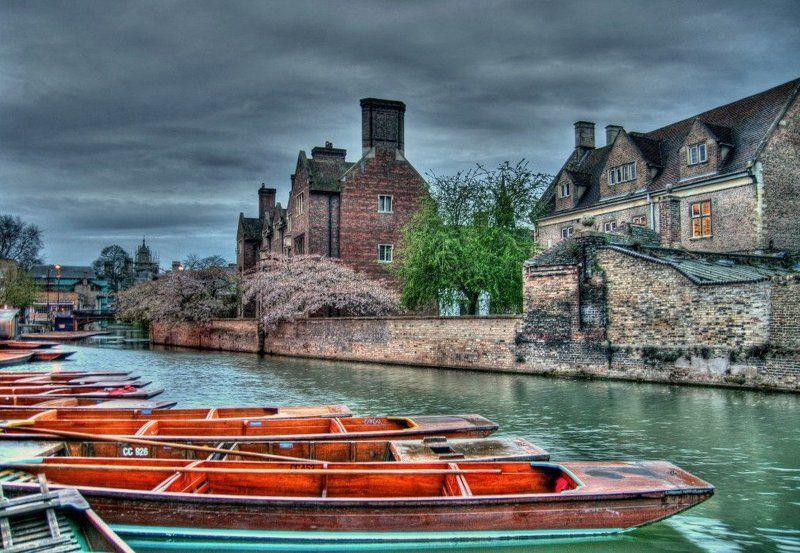 hdr, англия, лодки, панорама, река photo preview