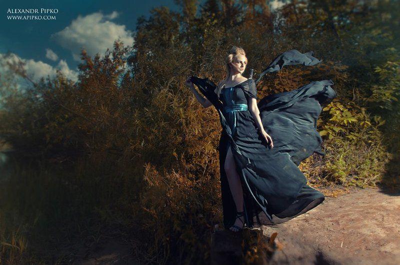 природа, платье. ткань, модель photo preview