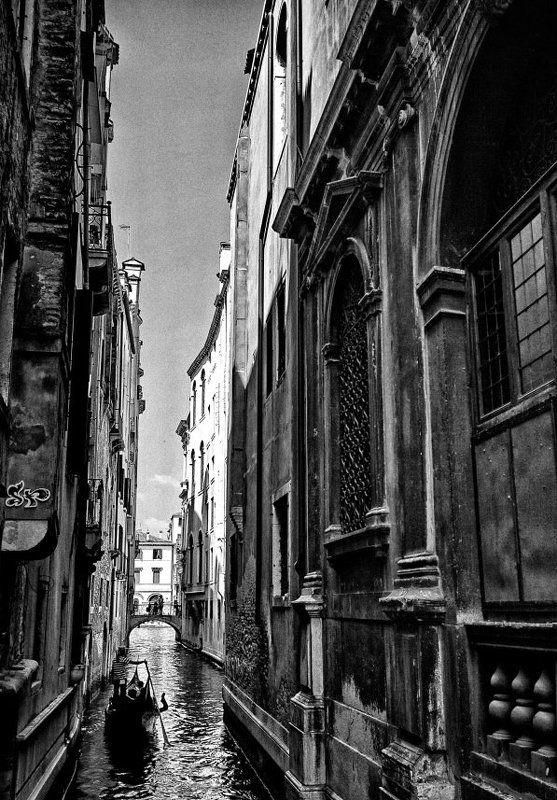 чб, канал, венеция, город photo preview