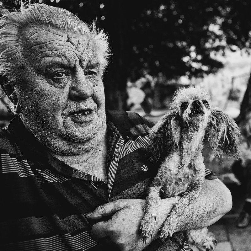 дед, собачка, злая собачка, добрый дед photo preview