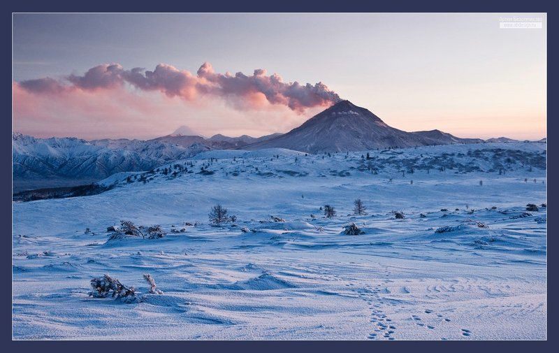 вулкан, вечер, извержение photo preview