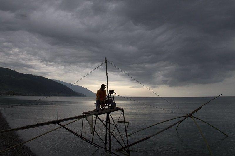 море, абхазия, утро, рыбалка photo preview