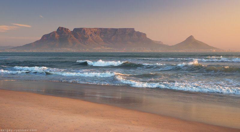 южная африка, африка, юар, кейптаун, атлантический океан, пляж, пейзаж, гора, столовая гора, table view, table mountain, cape town, landscape, ocean, beach Table View, Cape Townphoto preview