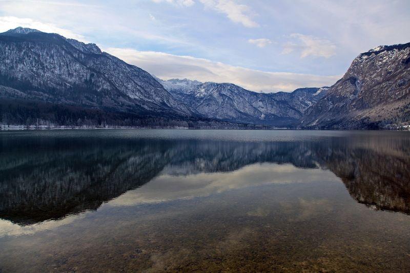 пейзаж, озеро, Бохинь, словения, путешествие, отражение, travel, slovenia, landscape, lake Отражениеphoto preview