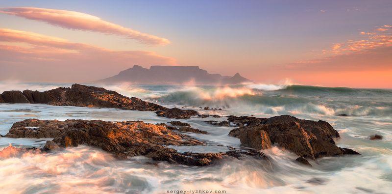 пейзаж, природа, столовая гора, кейптаун, южная африка, юар, пейзаж, океан, побережье, атлантика, cape town, south africa, coast, landscape, ocean, blouberg, Blouberg Beachphoto preview