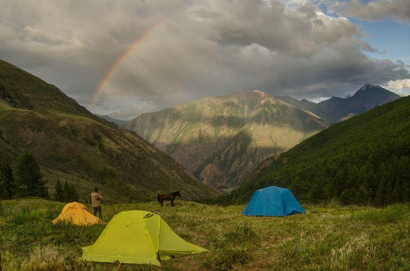горы, радуга, Алтай После дождяphoto preview