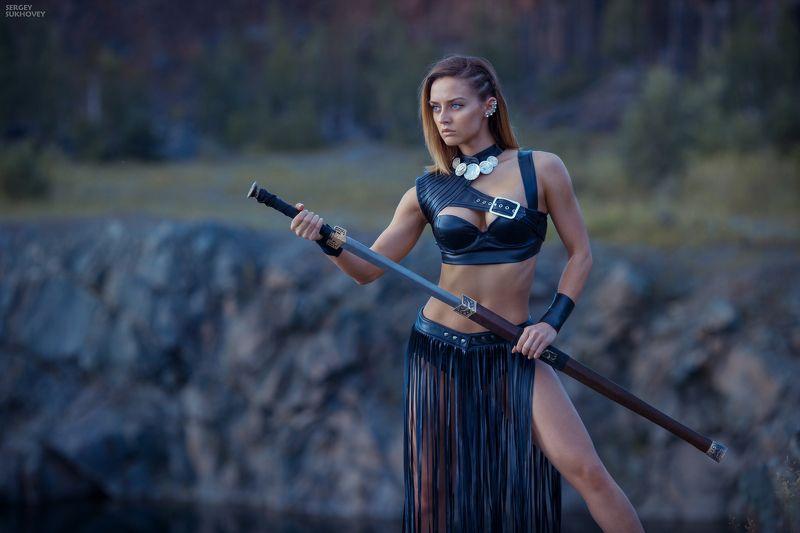 сказка, амазонка, амазонки, amazon,воительница, воин, копье, девушка воин, amazons, amazon, лук, стрелы, горы, озеро, фентези, меч, фитнес бикини, девушка с мечом Амазонка фото превью