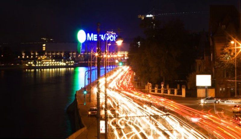 ночь,выдержка,мегафон,москва,огни,машины Москва-Мегафонphoto preview