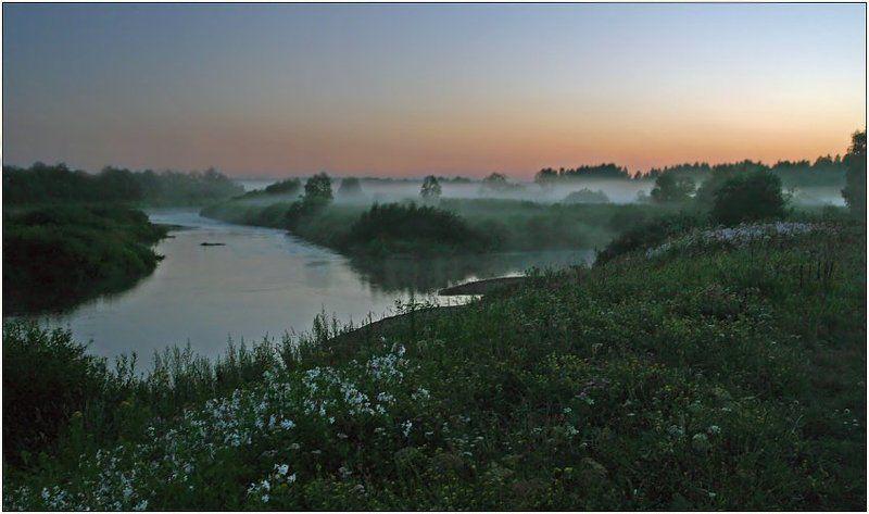 раннее утро, туман, река Пробуждениеphoto preview