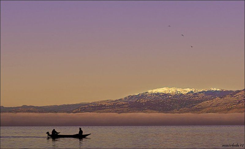 туман, рыбалка, вечер Сиреневый туман...photo preview