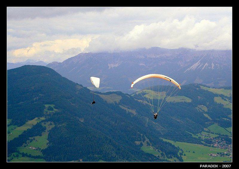 австрия, альпы,тироль,параплан,полет нормальный,paradox Полет протекает нормальноphoto preview