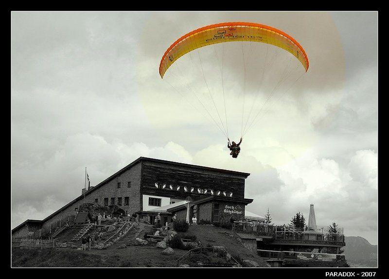 австрия,тироль,параплан,завершание полета,альпы,paradox Явление народуphoto preview