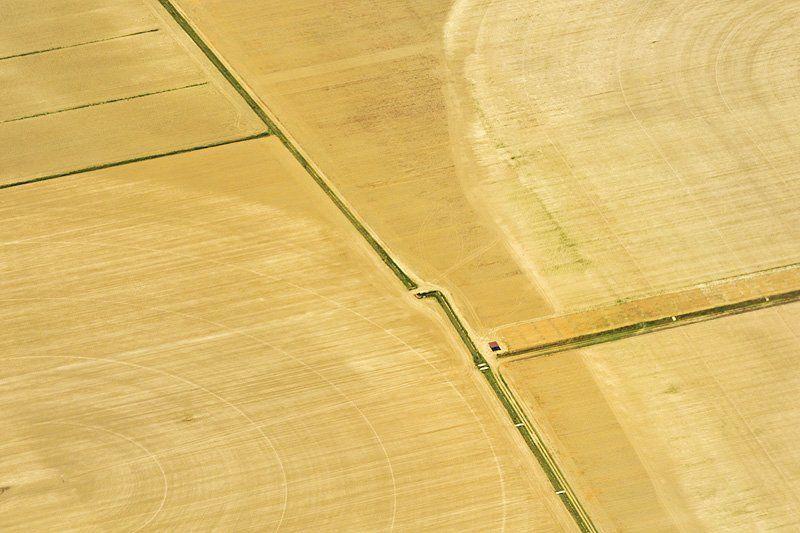 landscape, yellow, krusev, aero, fields, summer photo preview