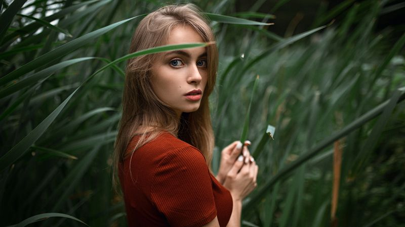 girl, beauty, green Дашаphoto preview
