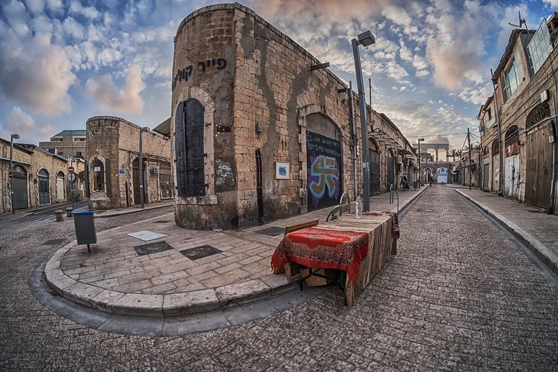 фишай, город,  улица,яффо Рыбий взгляд на старый город1photo preview