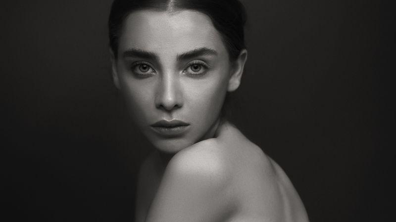 portrait, face, model blacnandwhite inspiration eyes people retouch MYRKURphoto preview
