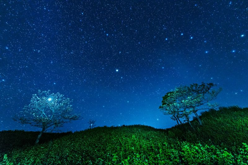 Приморский край, Приморье, звёзды, млечный путь, ночь Двое во вселеннойphoto preview