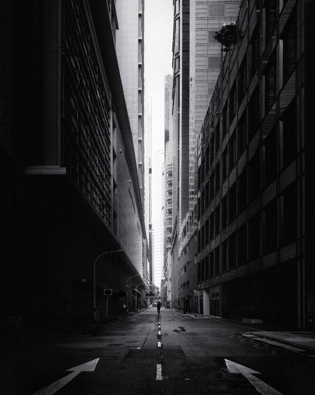 город, архитектура, черное-белое, мегаполис, сингапур Вакуум photo preview