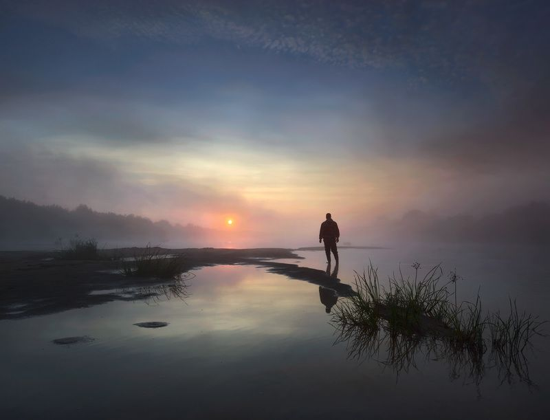 #пейзаж #мистика #фантазия #утро #природа #небо / Там, на краю... /photo preview