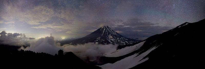 камчатка, корякский вулкан, ночная съемка, звезды Сон великановphoto preview