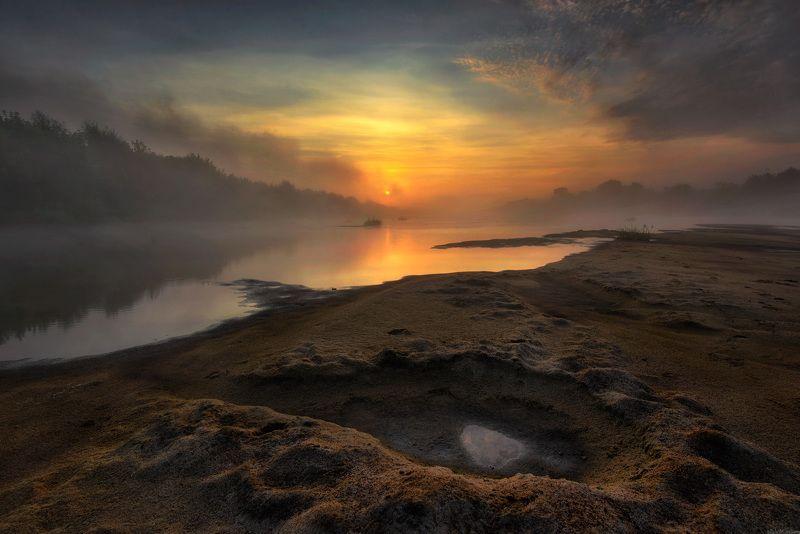 пейзаж утро небо река / Утро на реке /photo preview