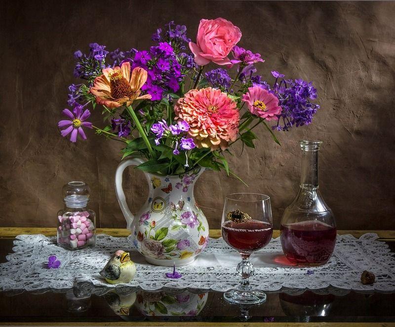 натюрморт,лето.осень.вино,цветы Проводы лета...photo preview