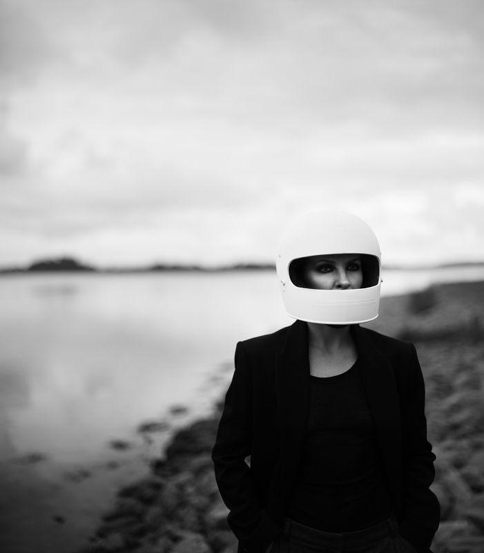#helmet #black&white #mood #portrait untitledphoto preview