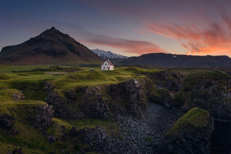 arnarstapi, iceland, landscape, nature, природа, пейзаж, исландия, закат, nikon Arnarstapiphoto preview