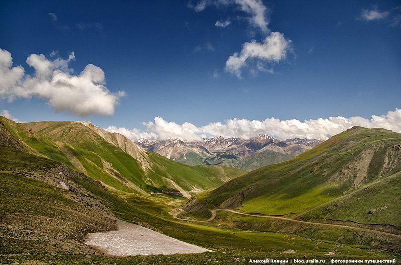 тянь-шань, киргизия, велоуфа, велопоход, перевал Вид с перевала Калмак-Ашууphoto preview
