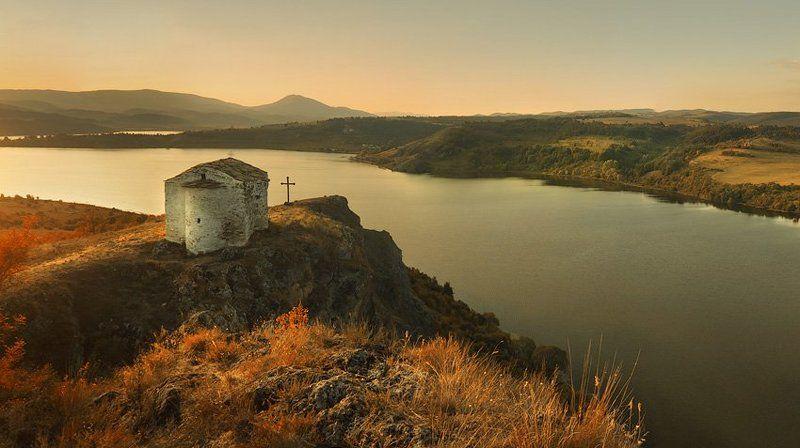 chapel, krusev, landscape, sunscape, dam, St. John Chapel - 1350 yearphoto preview