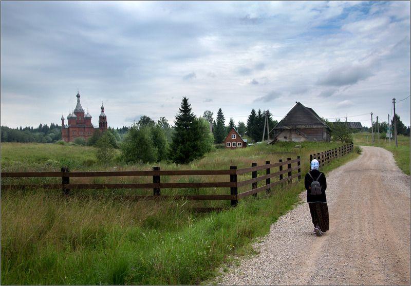 храм волга исток паломник деревня волговерховье лето К истокуphoto preview