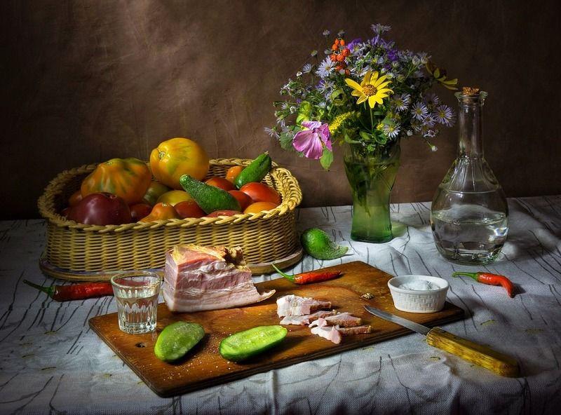 натюрморт,дача,цветы,урожай,перчик, Дачная пятница.photo preview
