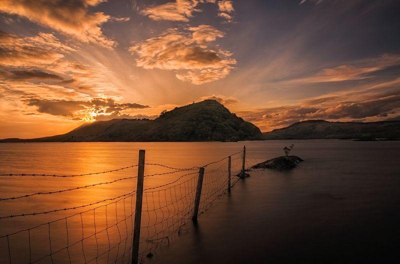 ireland, sunset, lake Corrib Viewphoto preview