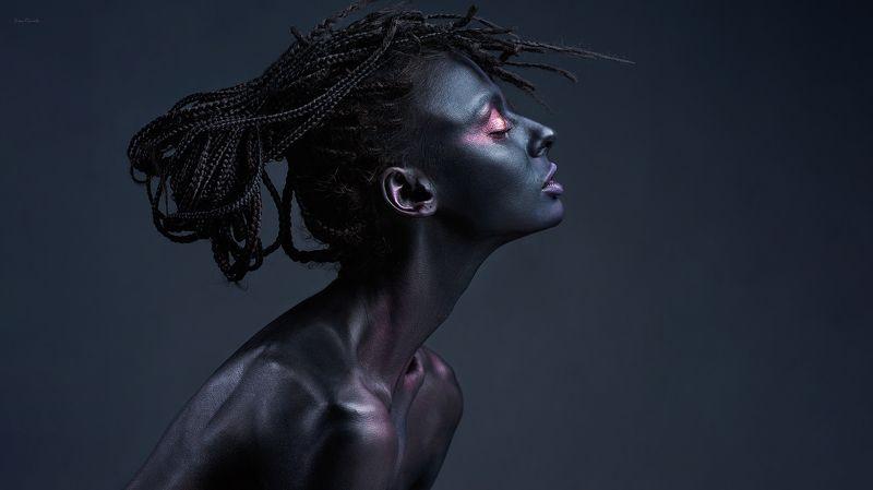портрет, девушка, арт, фейсарт, профиль, красота, гармония, дреды, фотокузница, ivankovale Lakayanaphoto preview