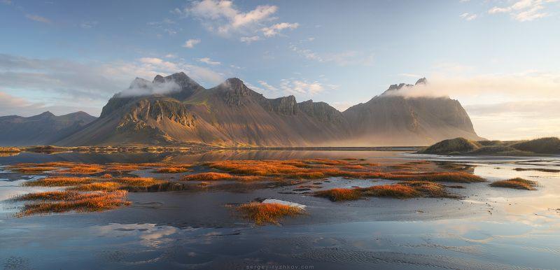 вестрахорн, исландия, пейзаж, природа, горы, панорама, iceland, stokksnes, vestrahorn, panorama, landscape, nature, Vestrahorn на рассветеphoto preview