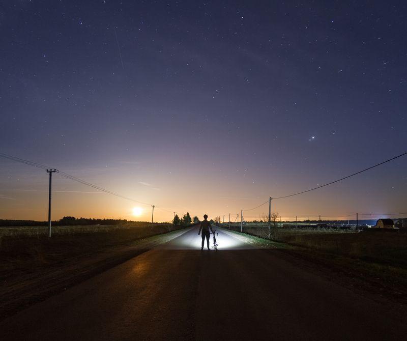 ночь туман россия велосипед Под звездами маяphoto preview