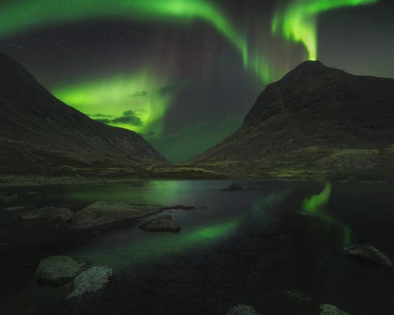 aurora eruption,хибины,северное сияние,aurora borealis,умбозерский перевал Aurora eruptionphoto preview