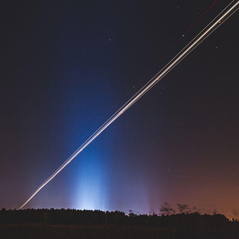flight night nightphoto nightphotography nightscape nightsky baybekov ruslan ночноенебо самолеты ночнойпейзаж байбеков Star Wars in heavenphoto preview