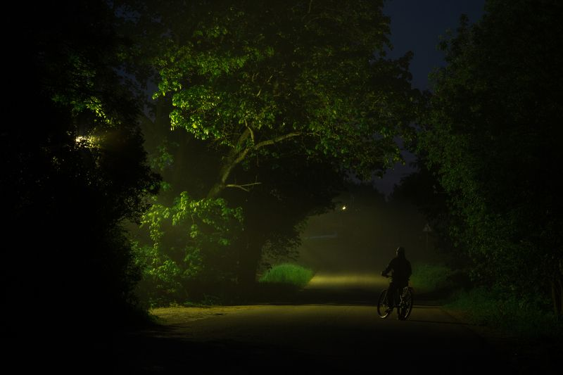 ночь туман россия велосипед Тишинаphoto preview